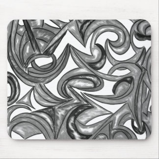 Peacock Plumage-Hand Painted Abstract Pattern Mouse Pad