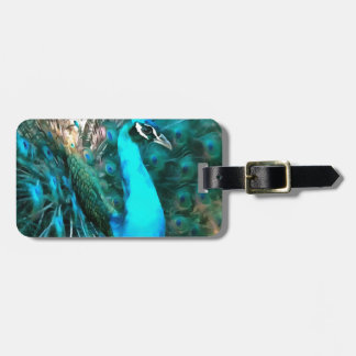 Peacock Plumage Luggage Tag