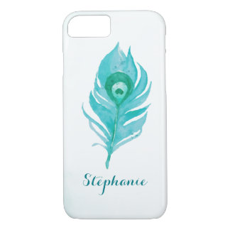 Peacock Plume Watercolor iPhone 8/7 Case