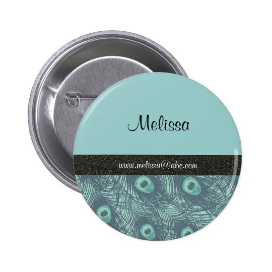 peacock print name template button lapel pin zazzle. Black Bedroom Furniture Sets. Home Design Ideas