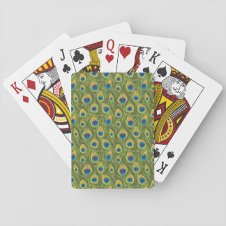 Peacock Print Playing Cards