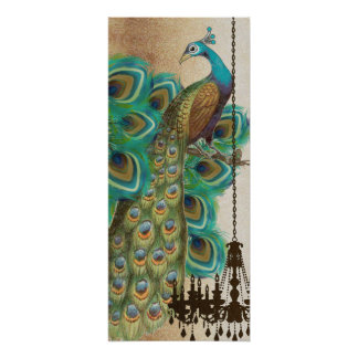 Peacock Roaring 20's Wedding Poster