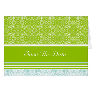 Peacock, Save The Date Greeting Card