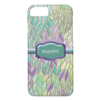 Peacock Sea Glass Mosaic Feather Impressionistic iPhone 7 Case