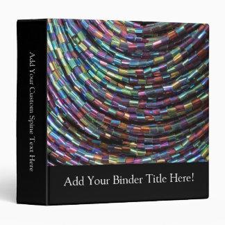 Peacock Seed Beads 3 Ring Binders