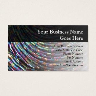 Peacock Seed Beads Business Card