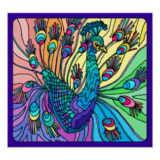 Peacock Shows Its Feathers: Poster