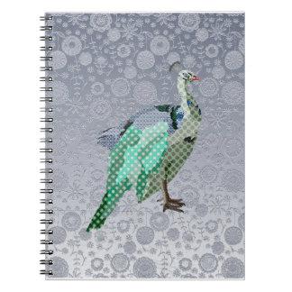 Peacock Silver Notebook
