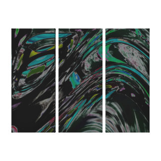 Peacock Swirl Canvas Print