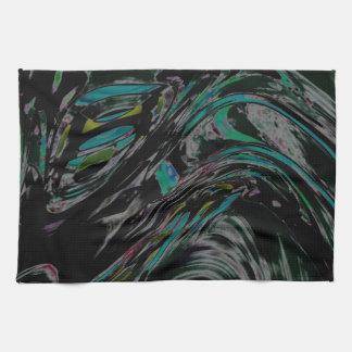 Peacock Swirl Hand Towels