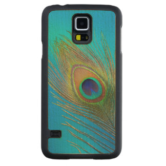 Peacock Tail Feather Carved Maple Galaxy S5 Case