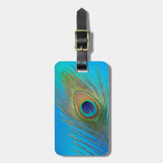 Peacock Tail Feather Luggage Tag