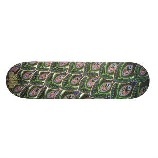 Peacock Tail Skateboard Deck