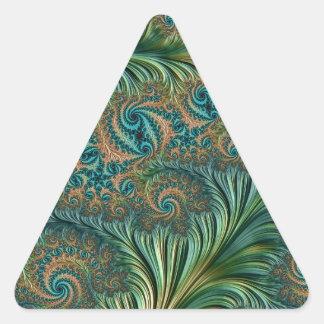 Peacock Triangle Sticker
