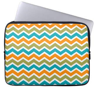Peacock Vibrant Tribal Zigzag Laptop Sleeve