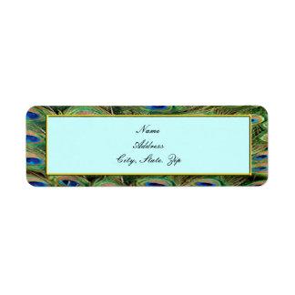 Peacock Wedding Address Labels