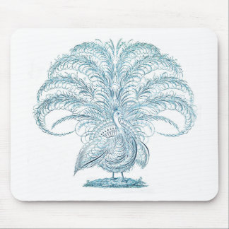 Peacock with Outstretched Feathers Mouse Pad