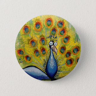 Peacocks 2 Inch Round Button