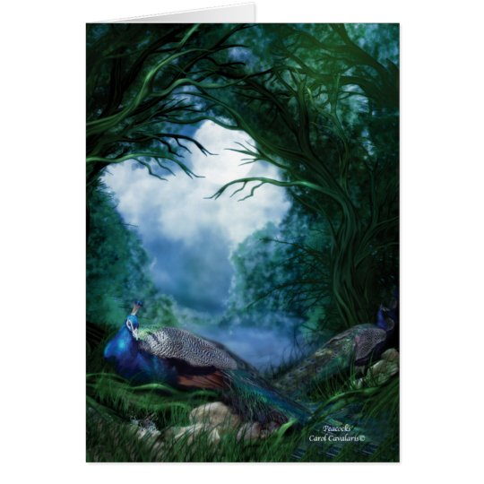 Peacocks ArtCard Card
