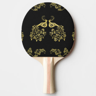 Peacocks in Love Ping Pong Paddle