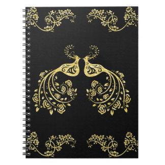 Peacocks in Love Spiral Notebooks