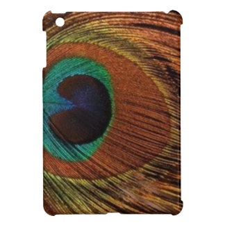 peacocks-plume-1red and gold iPad mini case