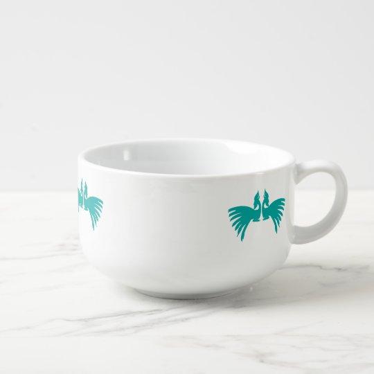 Peacocks Soup Mug