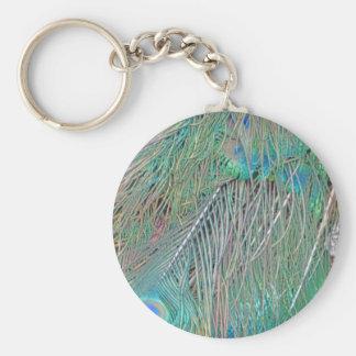 Peafowl Decadence Basic Round Button Keychain
