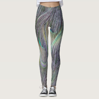 Peafowl Feathers Out Standing Colors Leggings