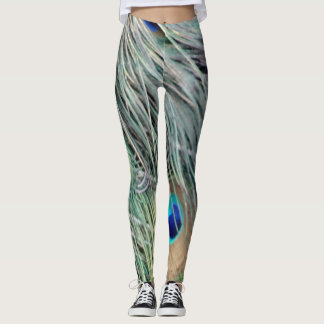 Peafowl Feathers With Big Eyes Leggings
