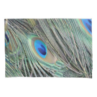Peafowl Feathers With Big Eyes Pillowcase