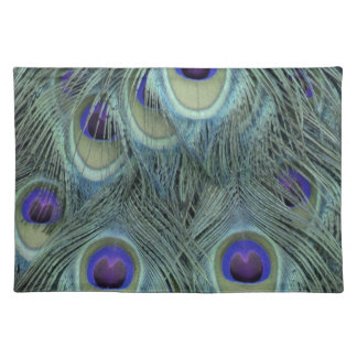 Peafowl Feathers With Big Eyes Placemat