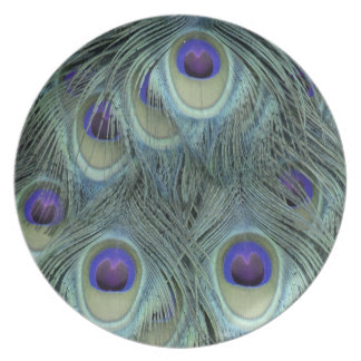 Peafowl Feathers With Big Eyes Plate