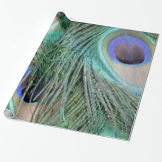 Peafowl Feathers With Big Eyes Wrapping Paper