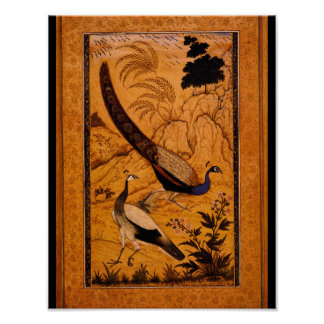 Peafowl in a Landscape'_The Orient Poster