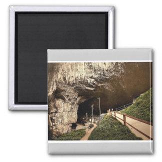 Peak Cavern, Castleton, Derbyshire, England rare P Square Magnet