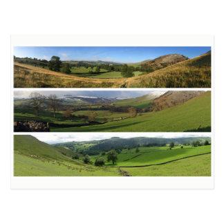 Peak District dales panoramas Postcard