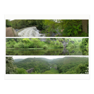 Peak District landscape panoramas Postcard