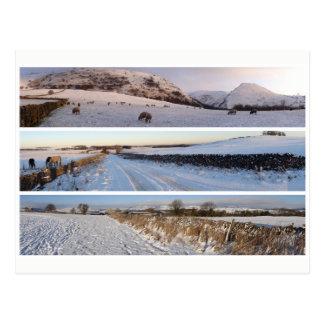 Peak District snowy panoramas Postcard
