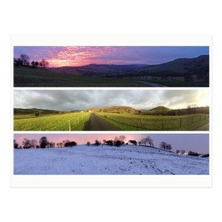 Peak District sunset panormas Postcard