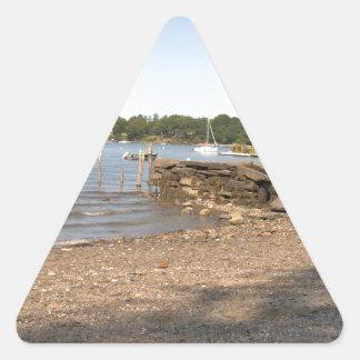 Peaks Island, ME Club Beach Triangle Sticker