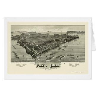 Peak's Island, ME Panoramic Map - 1886 Card