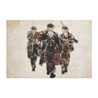 Peaky Blinders Shelby Boys watercolour Canvas Print