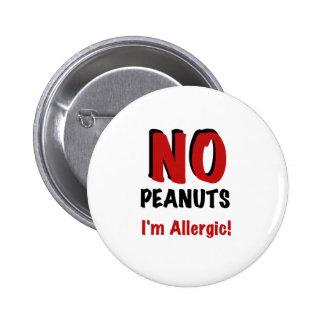 Peanut Allergy 2 Inch Round Button