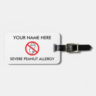 Peanut Allergy ID/ICE Luggage Tag