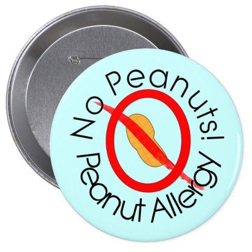 Peanut Allergy Pin Blue