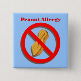 Peanut Allergy Pin in Blue
