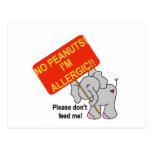 Peanut Allergy Postcard