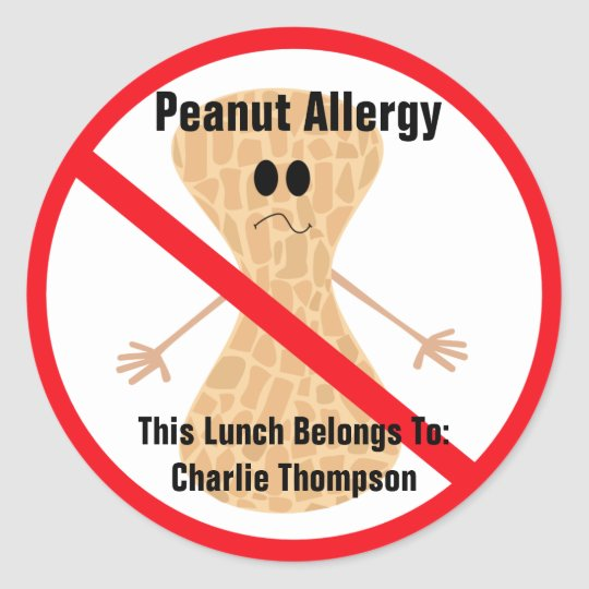 Peanut Allergy Sticker