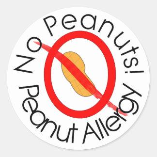 Peanut Allergy Sticker No Peanuts!